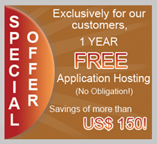 Facebook Development Special Offer - Get 1 Year Free Facebook Application Hosting exclusively for our customers.